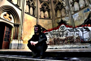 "File photo of Sergio Aruajo from Brazil sitting in the church at the ""Gesu Squat"" in Brussels"