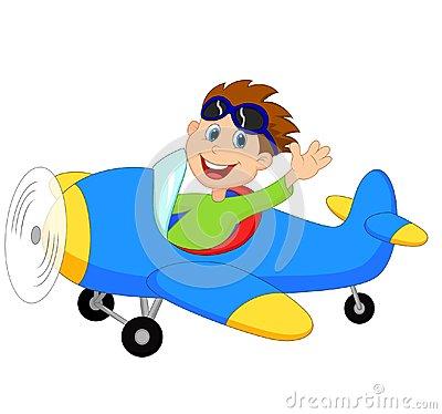 bande-dessinée-de-little-boy-exploitant-un-avion-33231265
