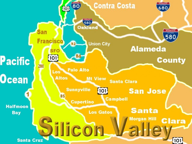Silicon-Valley-Map